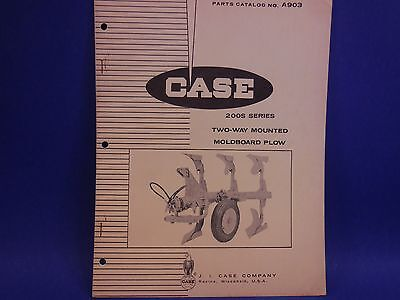 1965 Case Parts Catalog No. A903 200s Series Two-way Mounted Moldboard Plow