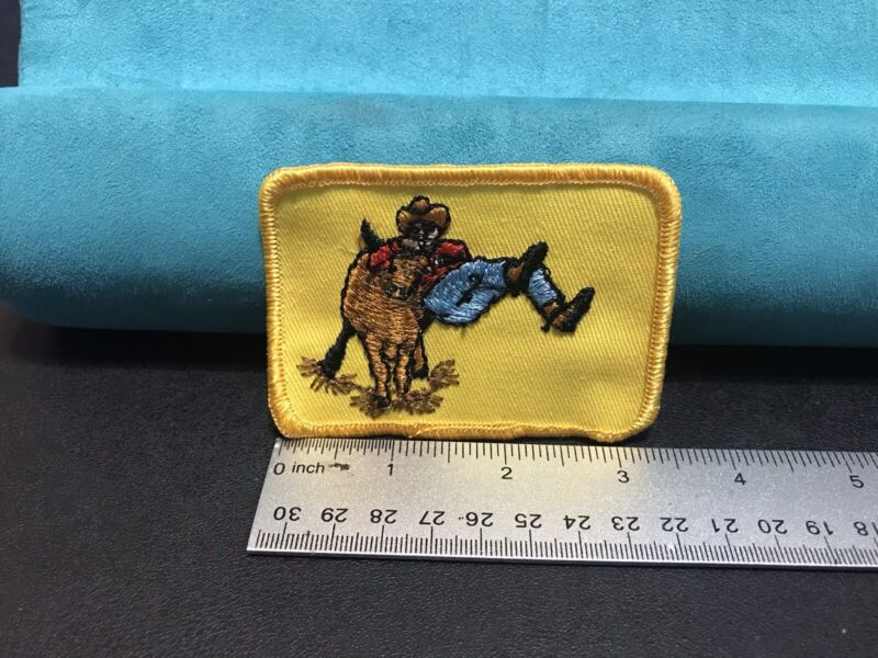 Steer Wrestling Patch, Bulldogging, Rodeo, Cowboy, New Unused