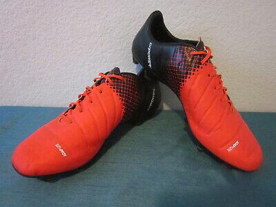 Puma evoPOWER Adap-Lite Soccer/Football Cleats Orange & Black Men's 10