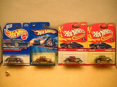 Hot Wheels 2005 Treasure Hunt 3-Window '34 Ford Coupe Classics Pinstripe Lot