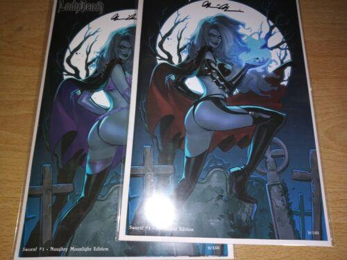 Lady Death Sworn 1. Moonlight Editions. Mirka Andolfo Covers. Matched Set.