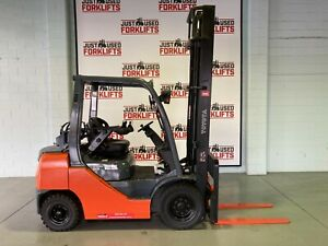 TOYOTA 8FG25 DELUXE SN 308FG25-41136 2.5 TON 2500 KG CAPACITY LPG GAS FORKLIFT 5000 MM  2 STAGE CLEA Coopers Plains Brisbane South West Preview