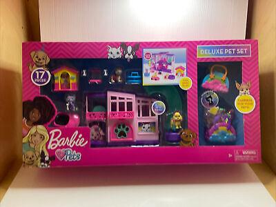 Barbie Deluxe Dreamhouse Pet Set Barbie Loves Pets 17 pcs! NEW Puppy Kitten Dog