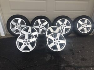 205/55/16 Tires and 2 sets of Rims.