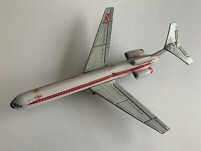 Vintage TWA Boeing 727 Friction Powered Tin Jet Airplane made in Japan
