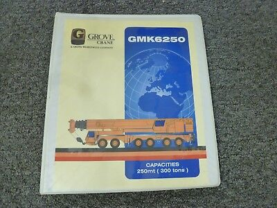 Grove Gmk6250 All Terrain Crane Load Capacities Charts Specifications Manual