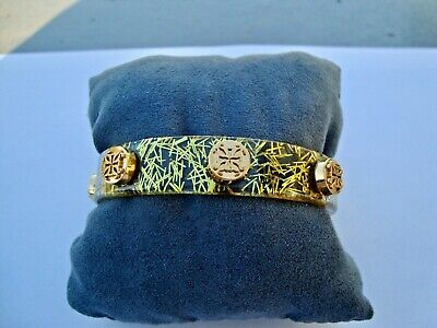 Rustic Cuff Gold/Yellow Confetti Lucite Bracelet