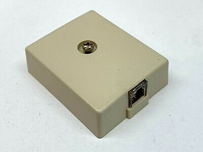 (6-Pack) Premier PT 625C Surface Block Cover Modular Connection RJ11 Jack Ivory - Modular Surface Jack Cover