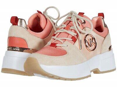 MICHAEL Michael Kors Cosmo Trainer Wedge Sneakers Women's Casual Shoes Beige