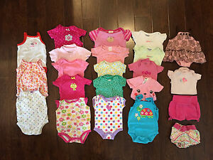 0-3 Months Baby Girl Onsies & Shorts