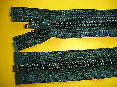 1 Reißverschluß ykk dunkelgrün 59cm, zum aushängen Kunststoffzähne X58