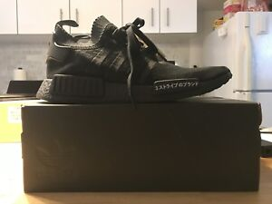 DS Adidas Nmd triple black japan boost size 11.5