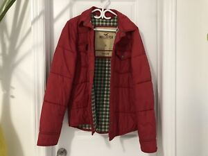 Red Hollister Winter Coat