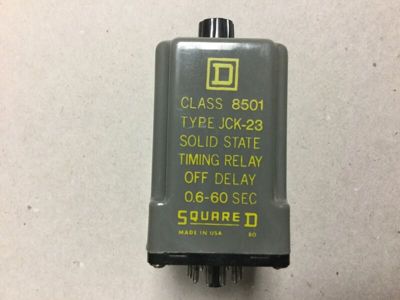 Square D Solid State Timing Relay 8501 JCK-23