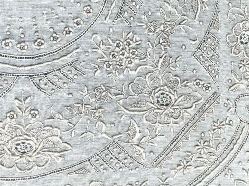 Antique Framed Linen ~ Textile