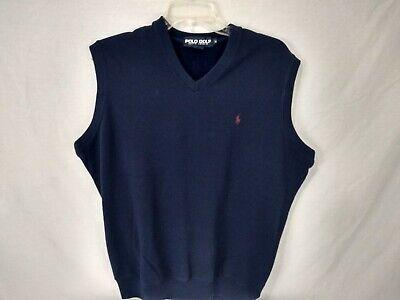 Ralph Lauren Polo Golf Sweater Vest Mens Medium V-Neck Blue Cotton