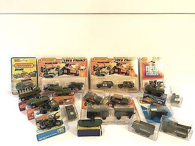 Matchbox Super fast Military Vehicle Car Truck Lot Army Tank Ambulance Jeep VW
