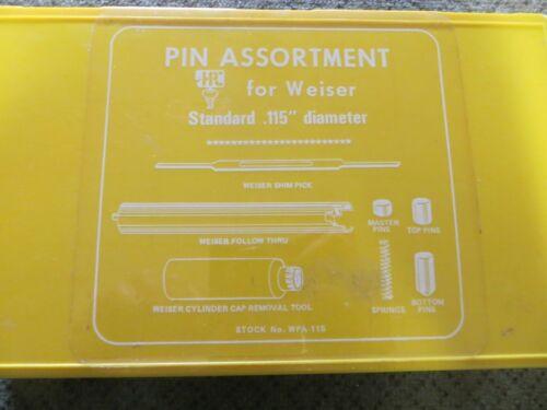 LOCKSMITHS:  HPC pinning kit for Weiser Locks for knobs & deadbolts