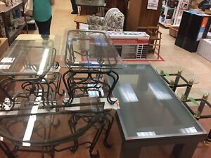 Glass table sets see details for price