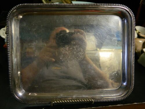 """Antique EGW&S International Silver Co. EPNS Rectangular Tray 10.25"""" x 8"""" Excell"""