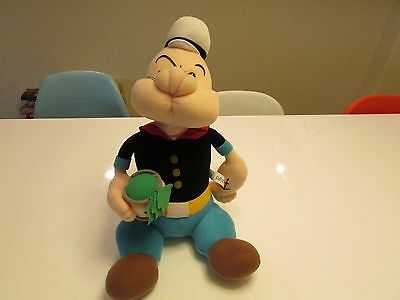 RARE !!   Popeye The Sailorman w/ Spinach Collectible  Plush Toy  / King 1999