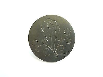 Antiker Trachten Knopf 18.Jh. aus Metall Blumen verziert Handarbeit Prachtstück!