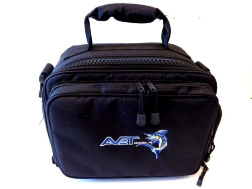 """Avet Reel Storage Carry Case / Reel Bag SMALL 14""""x9""""x8"""" fit up to 6 reels - New"""