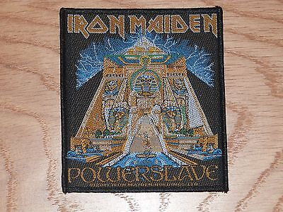 IRON MAIDEN - POWERSLAVE (NEW) SEW ON W-PATCH OFFICIAL BAND MERCHANDISE