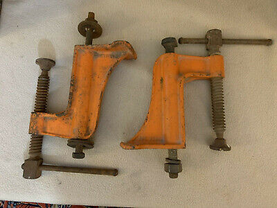 Pair Of Vintage Jorgensen 1834 Hold Down Welding Clamps 4