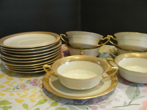ROSENTHAL MAJESTIC 6 SOUP CUPS AND 6 SAUCERS
