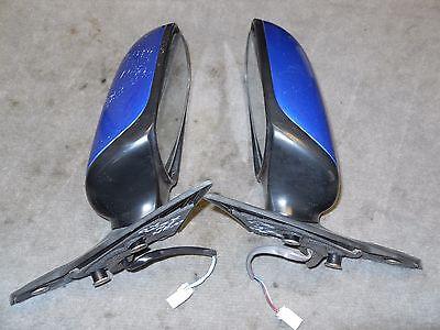 2004-07 SUBARU IMPREZA WRX DRIVER PASS DOOR MIRROR SET WORLD RALLY BLUE PEARL