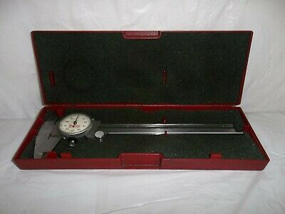 Starrett No. 120a Dial Caliper Range 0-6 .001 White Face W Case