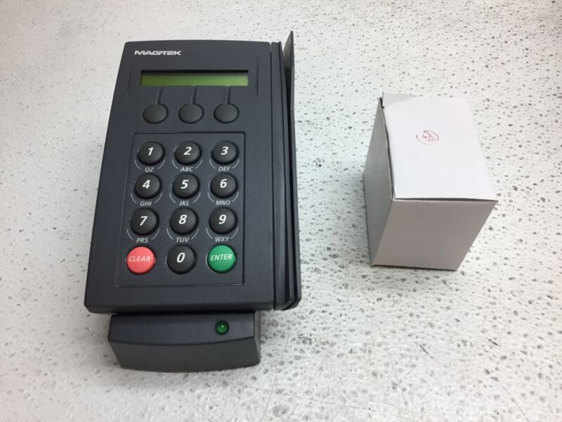 Magtek Intellipin P/N: 30015120 POS Touchpad Credit Card Reader w/ A/C Adapter