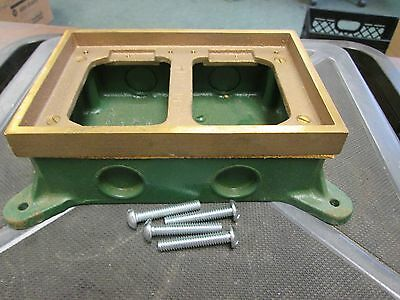 Lew Electric  Shallow 2 Gang Cast Box  SH62G2A  25 CV. In.  New Surplus