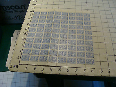 CORREOS DE BOLIVIA unused sheet of 80 stamps Aereo 2.90 each