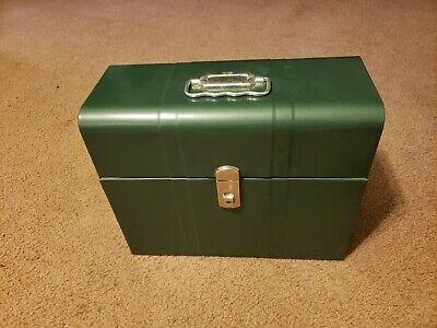 Climax Hamilton Metal Porta File Document Holder Storage Box No Key