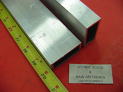 2 Pieces 1x 2x 18 Wall Aluminum Rectangle Tube 6063 T52 X 20 Long