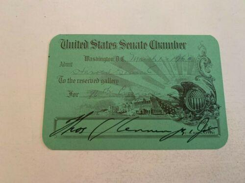 1960 United States Senate Chamber Pass