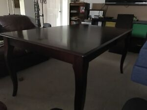 Solid Canadian wood dining table w/ two inserts