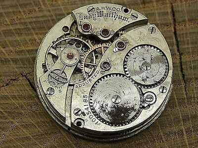 Waltham Antique Pocket Watch Movement 0 size 16 jewel Grade Lady Waltham Hunting