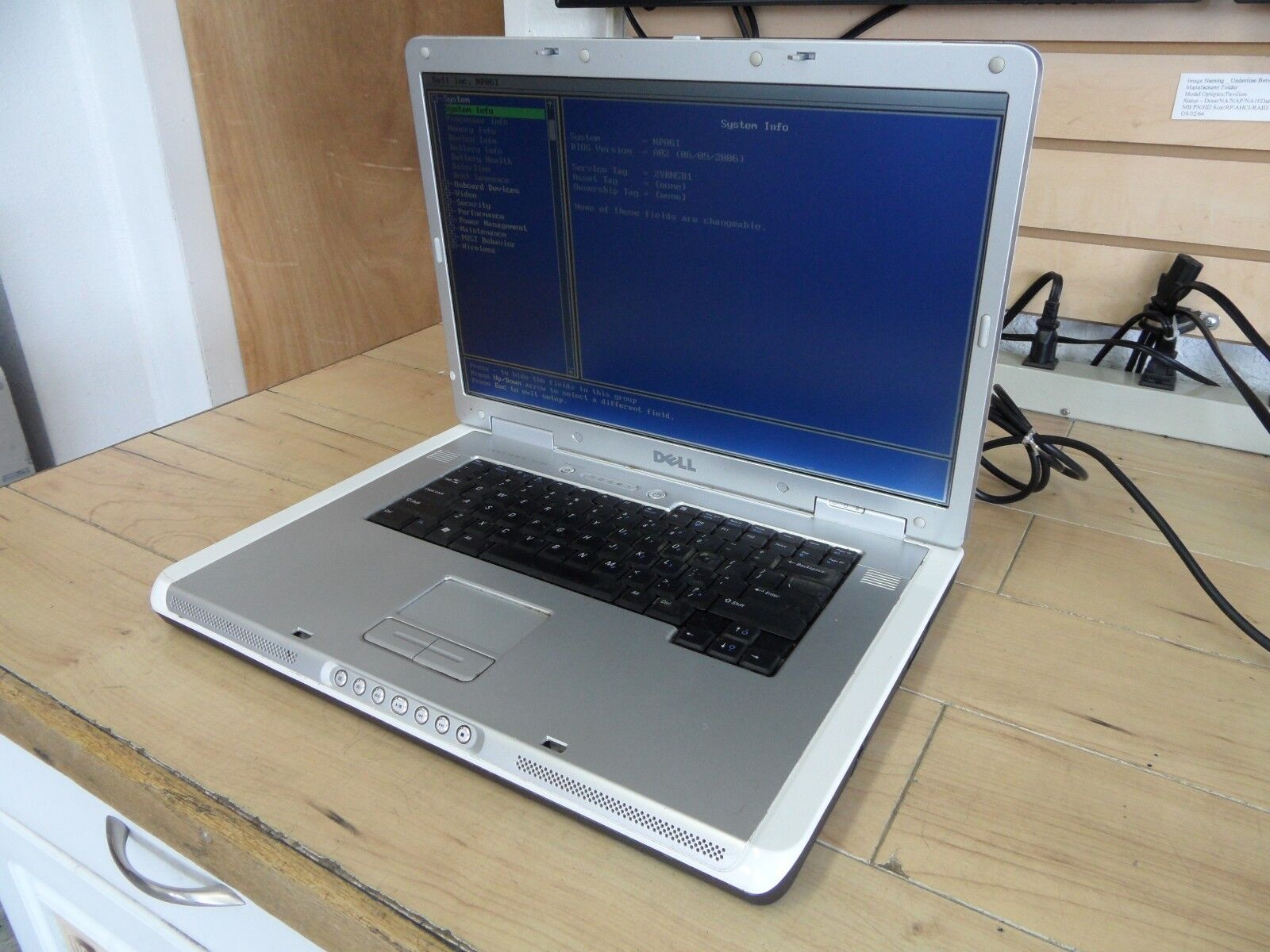 Dell Inspiron E1705 Laptop For Parts Posted Bios No Hard Drive *