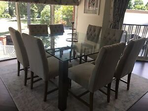 Square glass dining table Kew Boroondara Area Preview