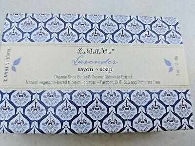 3) NEW France LA BELLE VIE Organic Shea Butter BAR SOAP BATH SHOWER CARE (La Belle Bath)