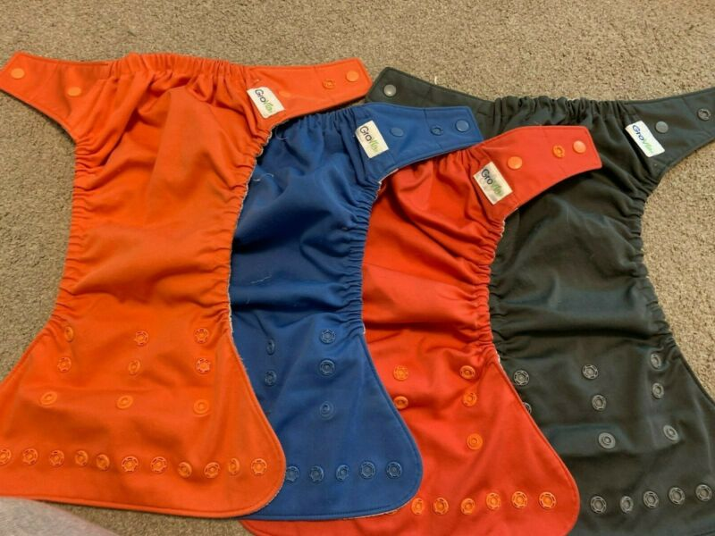 grovia hybrid cloth diapers pre-owned snap SHELL (covers)