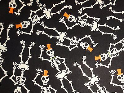 Halloween fabric Decor Skeleton Trick or Treat Party DIY Costume Cotton Sewing - Diy Crafts Halloween Costumes