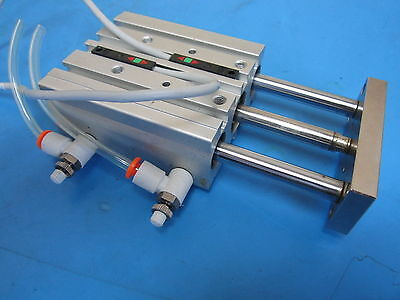 Used Smc Compact Guide Cylinder End Locking Type Mgpl16-40 Max Press 1.0mpa