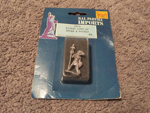 Sealed Ral Partha Imports Lizard Lord w/Spear & Shield Metal Figures FF78