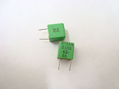 Wima Film Capacitor Fkp2 0.015 Uf 63 Volts 2.5 - 5 Pc Lot