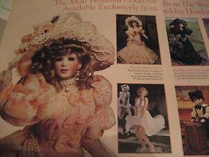 Franklin-Mint-Heirloom-Doll-Ad-MARGUERITE-Rose-Heather-Peanut-8-Models