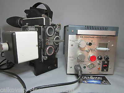 PRO ANIMATION TIME-LAPSE MOTOR & CONTROLLER for BOLEX H16 16mm MOVIE CAMERA